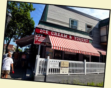 02b - walking Main Street in Bar Harbor - too early for ice cream