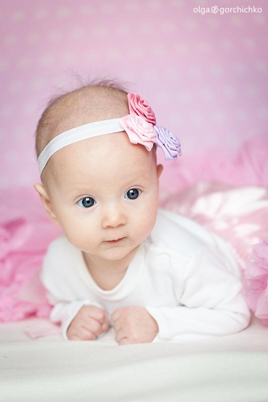 Детская фотосессия. Машенька 4 месяца