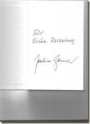 Joachim Gauck Signierung
