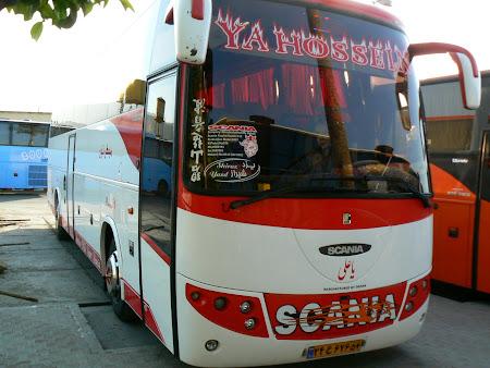 Transportation in Iran: public bus Shiraz - Yazd