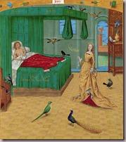 Un beau rêve , dame nature et les oiseaux  BNF 9197 (apparition Dame Nature)