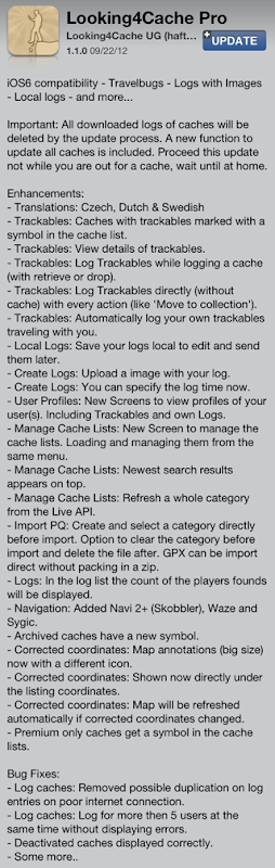 Looking4Cache Pro version 1.1.0