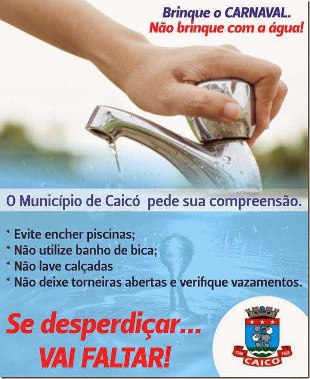 Campanha Uso Racional da Agua no Carnaval
