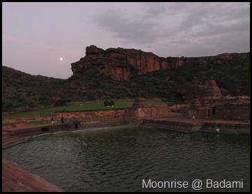 Moonrise @ Badami