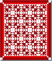 accuquilt mix and match red and white