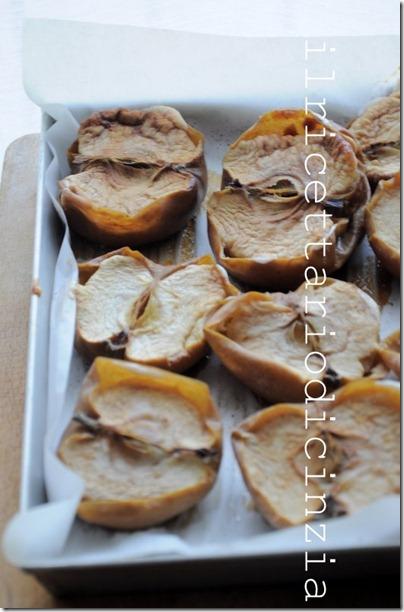 vellutata di mele arrosto, rosmarino e roquefort