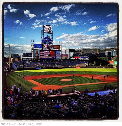 'Coors Field #fb' photo (c) 2013, Mike Brice - license: https://creativecommons.org/licenses/by/2.0/