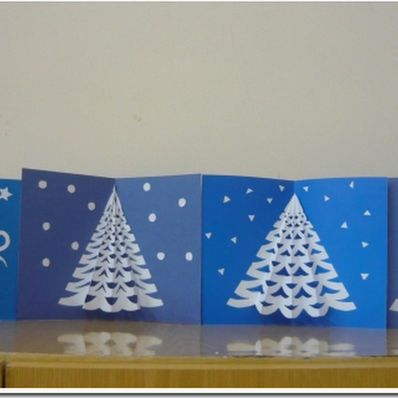Maquetas para imprimir colorear recortar y armar - Tarjeta de navidad para ninos manualidades ...