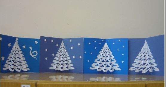 Tarjeta rbol navidad en relieve manualidades para ni os colorear dibujos infantiles - Postales navidad manualidades ninos ...