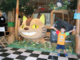 Kai at the Studio Ghibli store in Odaiba