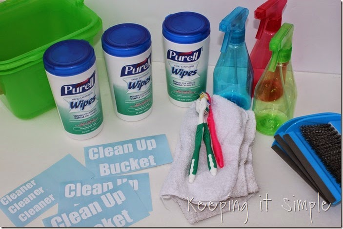 #ad Individual-Kids-Clean-Up-Buckets #PurellWipes (2)