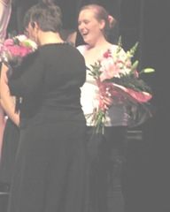 5.16.2012 Katies last choral at BR..Katie with teacher and flowers4