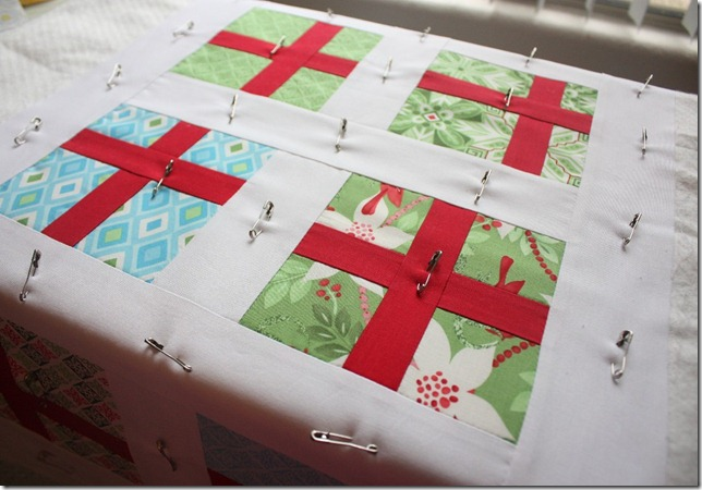 Simple Gifts Christmas Runner Basted