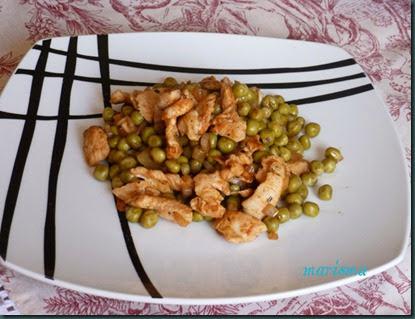 guisantes con tacos de pavo en adobo,racion copia