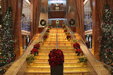 The Grand Staircase Decorated For The Holidays - Celebrity Summit