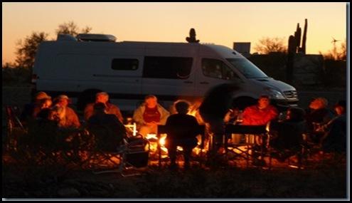 Campfire at Quartzsite