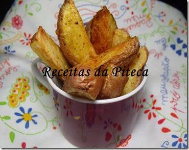 Batatas crocantes com especiarias