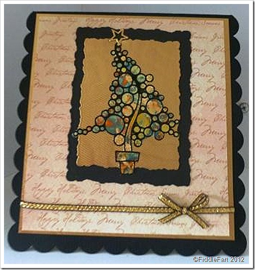 Christmas Tree Card Using Peel Offs
