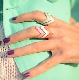 Chevron Rings via French Sea Side| allonsykimberly.com