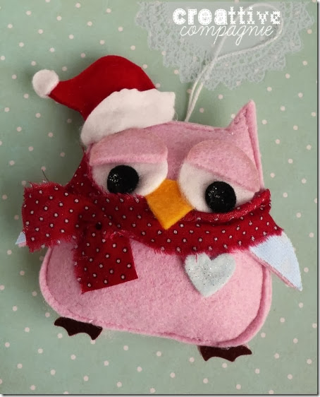 gufi civette decorazioni natalizie 3