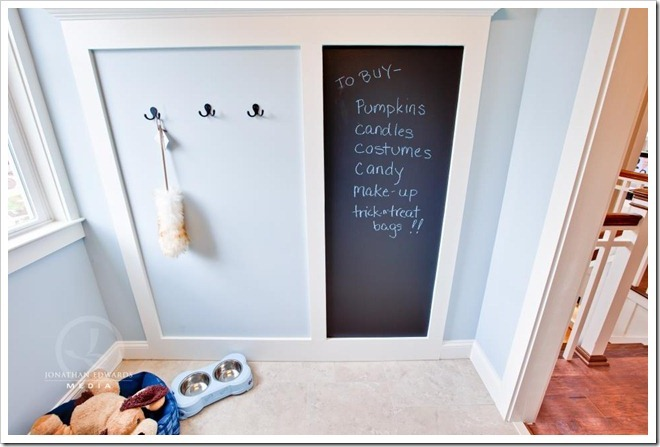 chalk-board-laundry-room-Decorating a Dream Home - www.sandandsisal.com