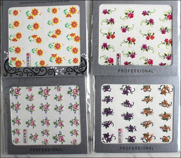 0 Water Decals Blumen