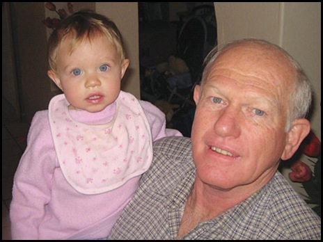 VanDenBerg Piet 64 with granddaughter Tamzin Theologo he was murdered house torched