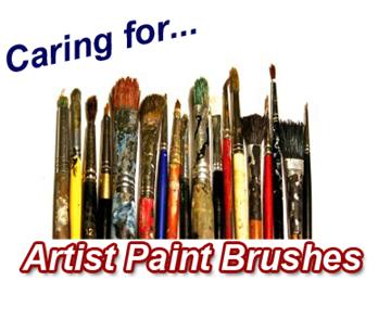 artist paint brush care
