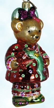 Radko Muffy Happy New Year Chinese Christmas ornament