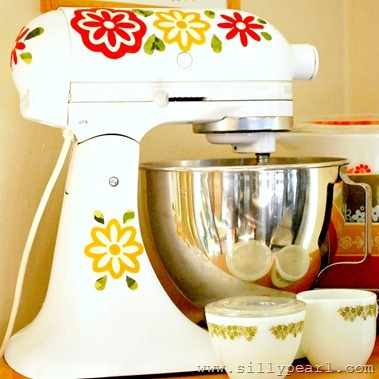 Vintage Pyrex Inspired Mixer Decals