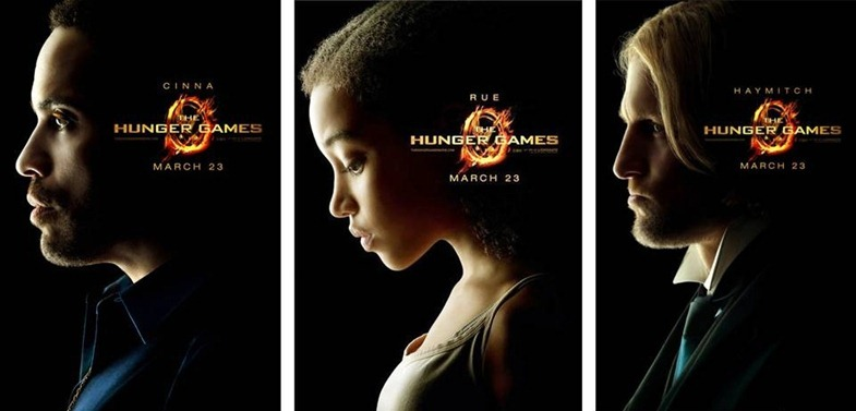 The Hunger Games Cinna Rue Haymitch