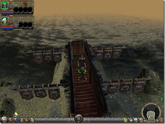 Dungeon Siege II logo no comecinho