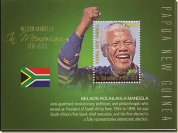 (原创)方寸天地伟人长存:纪念曼德拉逝世邮票12 巴布亚新几内亚 - 六一儿童 - 译海拾蚌