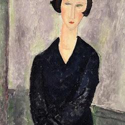 Modigliani, Black Dress