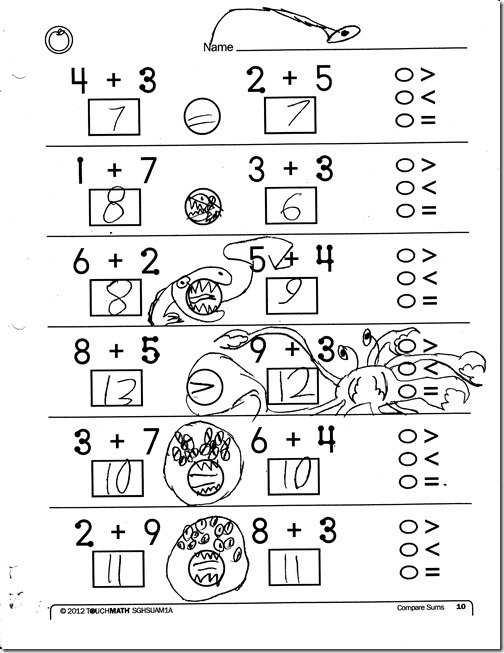 Worksheet Touch Math Worksheets homeschooling hearts minds touchmath 2nd grade a review peter monsters worksheet