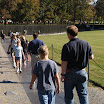 Walking by the Vietnam Memorial