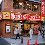 wendy's hamburgers in Tokyo, Tokyo, Japan