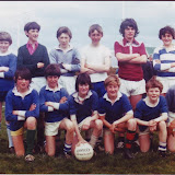 11 a side from the 70's, Joe mcGann, Cafferty , Martin Leonard, Aiden Connor (rip), Michael Duffy,  Declan Goff. Front: Vincent Goff, Thomas Timoney, Martin Gilroy, Kenny OBoyle, Gerard Monaghan, Michael Timoney