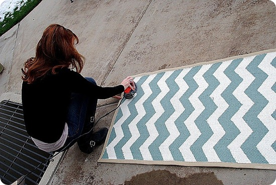 chevron rug tutorial