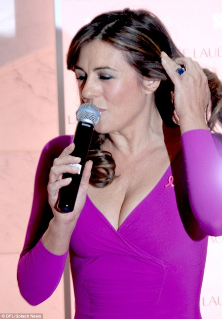 Liz Hurley at Breast Cancer Awareness campaign