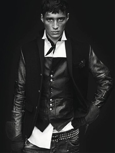Adrien Sahores by Mert & Marcus for DSquared2 F/W 2011-12 campaign