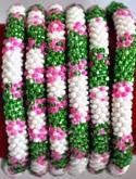 rollover bracelet green white