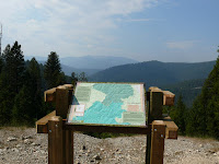 Overlook placard of two wildernesses