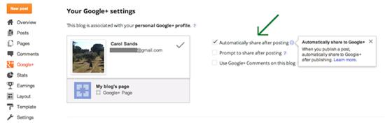 condivisione automatica dei post