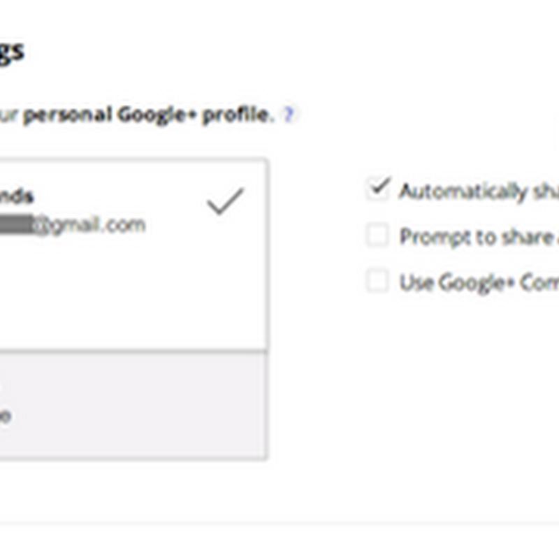 Caratteristiche di Google+ in Blogger: condivisione dei post.