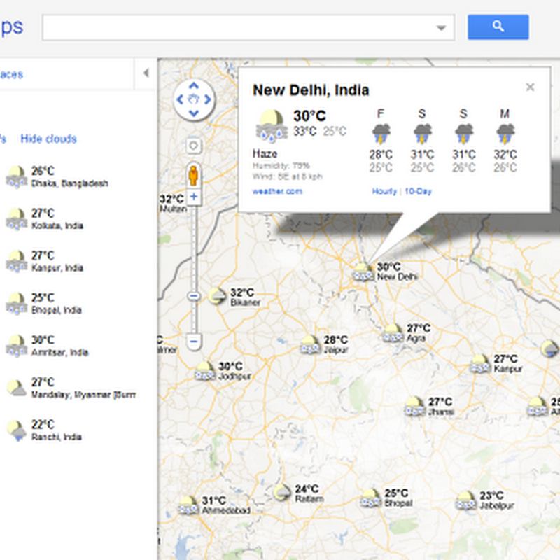 See The Weather in Google Maps