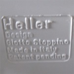 Stoppino record album/LP/storage rack for Heller, white imprint