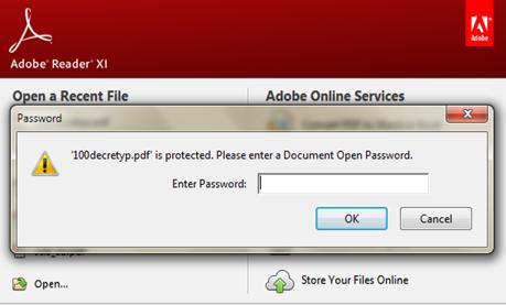 สร้างรหัสผ่านให้เอกสารพีดีเอฟ