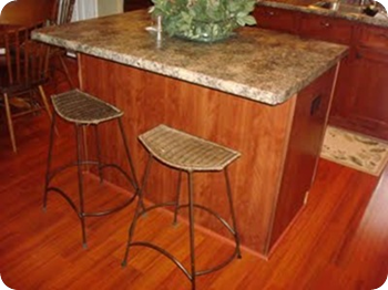 kitchen island before