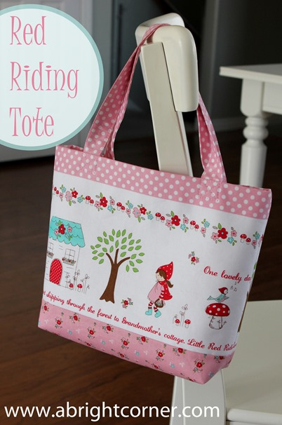 Red Riding Tote tutorial